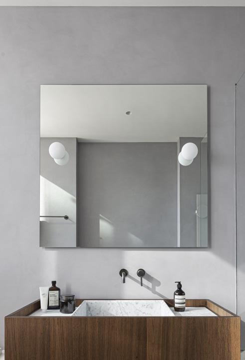 specchio bagno applique