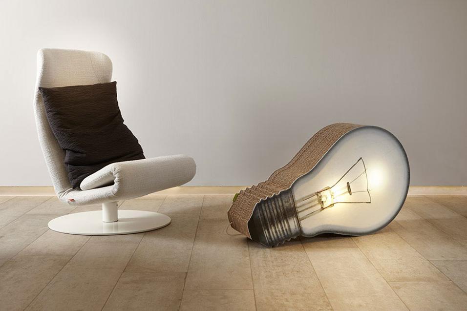 Lampada In Cartone 01lamp : Arredi sostenibili