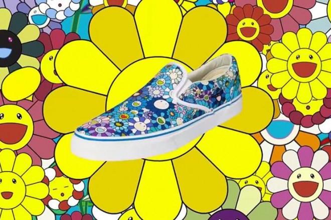 Fiori sorridenti, teschi cartoon e colori a gogo. La nuova linea del brand di sneakers e apparel è un tuffo nell'immaginario dell'artista giapponese Takashi Murakami