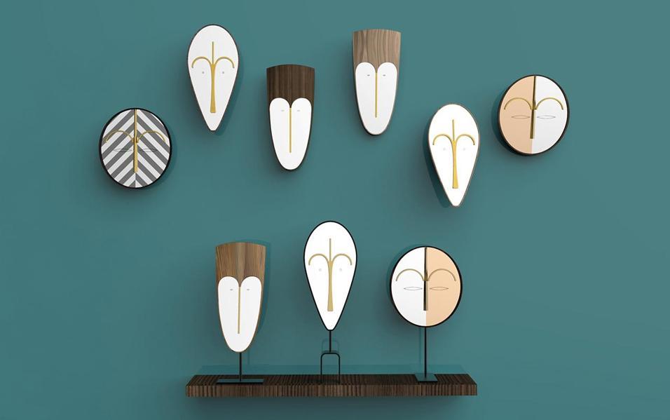 Lo stile etnico ispira il design. Maschere tribali, rafia, legno: i designer reinterpretano tradizione africana. Ecco i must to have dell'estate 2015 WISE MEN MIRRORS DI COLÉ ITALIAN DESIGN LABEL