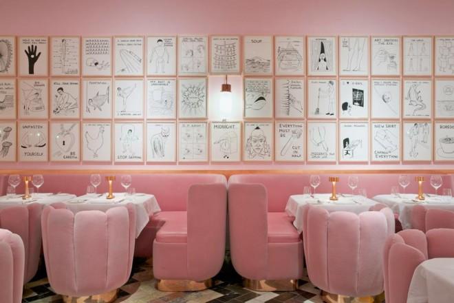 La tendenza? Il rosa confetto. Il design scopre la sua vena romantica. E la casa si colora a tinte sorbettoTHE SKETCH, LONDON