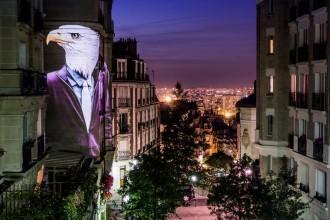 Ghepardi, elefanti, gorilla e koala per le strade di Parigi. È l'ultimo progetto dell'artista francese Julien Nonnon, una serie di proiezioni anticonformiste sulle facciate dei palazzi