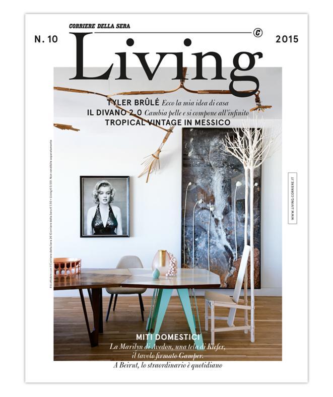 LA COVER DEL NUOVO LIVING N. 10 2015