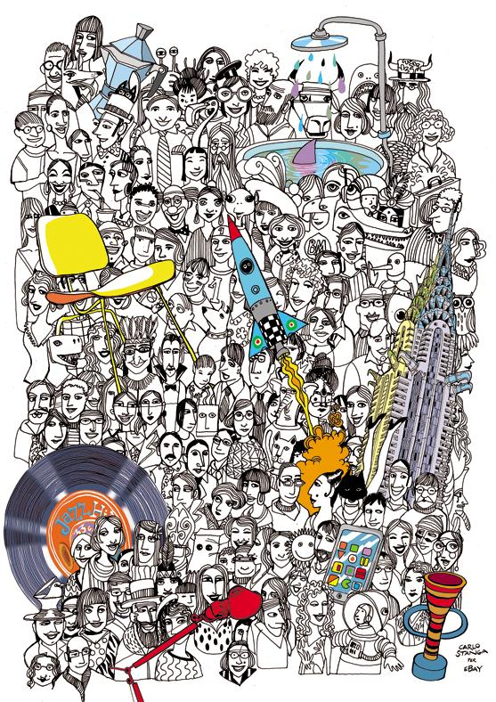 Venti racconti illustrati di chi ha comprato e venduto sul marketplace più famoso del mondo nato nel 1995
