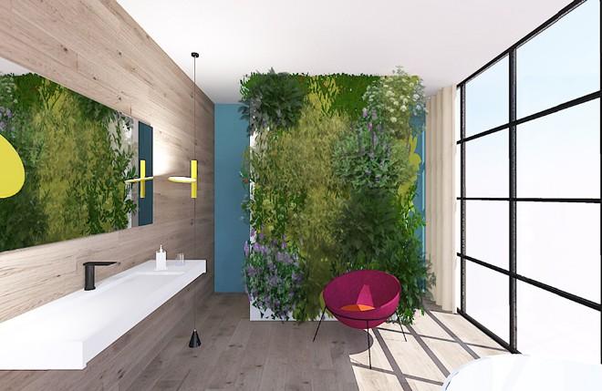 Un giardino verticale in bagno livingcorriere - Giardino verticale in casa ...