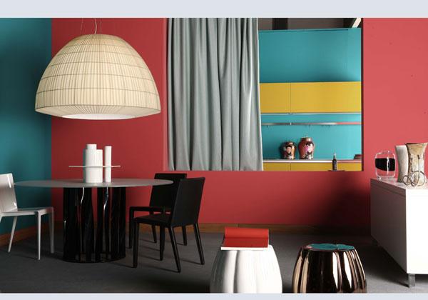 Va in scena il colore livingcorriere for Arredamento colorato