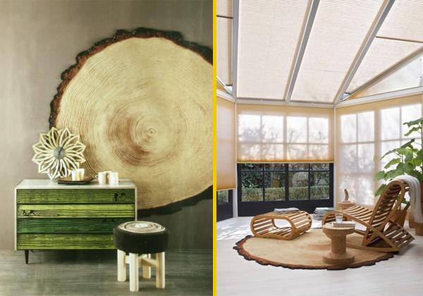 Il bosco in casa livingcorriere for Tronco albero arredamento