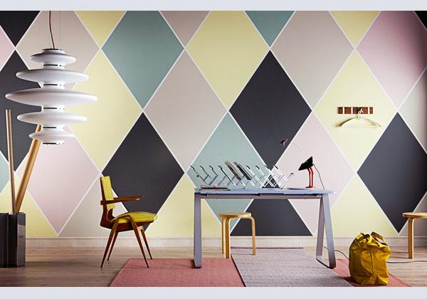 The wall livingcorriere for Pareti colorate soggiorno esempi