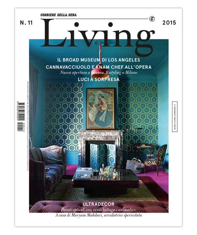 LA COVER DEL NUOVO LIVING N. 11 2015