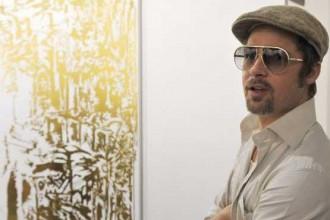 Brad Pitt ormai da anni frequenta le più importanti fiere e manifestazioni d'arte contemporanea internazionali