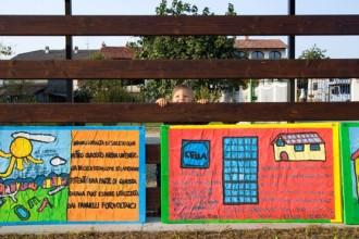 Alcuni dei disegni originali fatto dai bambini della scuola elementare di Settimo Rottaro