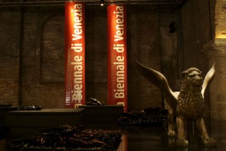 Sala Stampa all'Arsenale della Biennale di Venezia. Foto Ingrid Taro