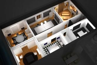 La trasformazione di un classico appartamento milanese in ufficio è uno dei casi che Jean Nouvel proporrà al pubblico del Salone. Immagine @ Cosmit