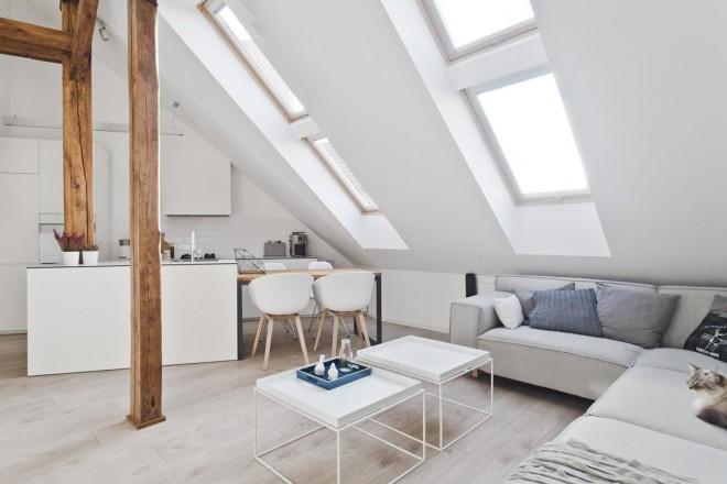 Awesome in polonia una vecchia soffitta stata trasformata - Ristrutturare e arredare casa ...