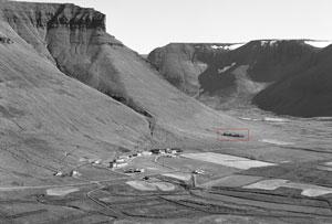 Veduta di Núpur nel Dýrafjörður