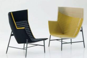 PAPER PLANES Poltrona da lettura / Reading chair Prod.  MOROSO Designer DOSHI & LEVIEN STUDIO