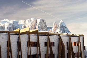 L'Alpina Dolomites si trova in località Compaccio (1860 m.s.l.m.)