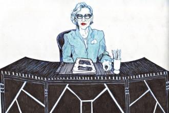 Un ritratto di Andrée Putman. Nel gennaio 2009