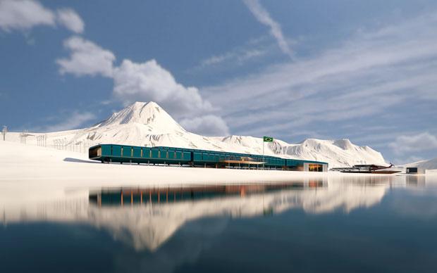 La nuova Stazione antartica brasiliana Comandante Ferraz progettata dagli architetti diEstúdio 41. Sostituirà la vecchia stazione distrutta da un incendio nel 2012.