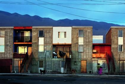 "Una panoramica del quartiere ultraeconomico ""Monroy"" a Iquique"