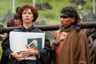 L a regista Icíar Bollaín durante le riprese del film