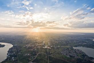 Una veduta panoramica di Brasília