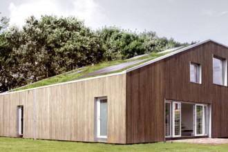 Una  casa indipendente immersa nel verde di una città cinese. Il progetto è dello studio danese Arcgency. Foto dello Studio Arcgency