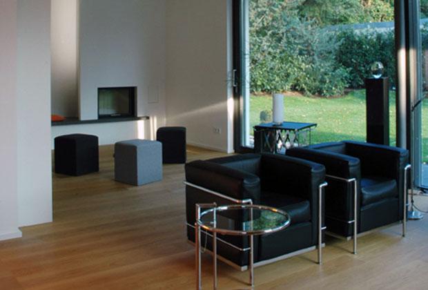 L'esterno della casa monofamiliare progettata dallo studio tedesco Stadler & Partner