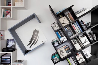 La scaffalatura obliqua per i libri