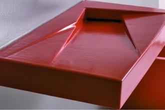 Scultoreo il lavabo Oz di Gsg Ceramic Design (cm 95x47x9