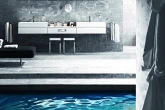 Crea un suggestivo effetto lampadario il soffione doccia XL di Ludovica+Roberto Palomba per Zucchetti. Capace di produrre diversi effetti d'acqua