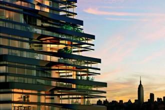 Uno dei vantaggi dell'area di Manhattan dove sorgerà il nuovo edificio residenziale progettato da UNStudio è l'orizzonte ancora libero (per il momento) dalla selva di grattacieli comune ad altre zone della città. Circondati da volumi più bassi