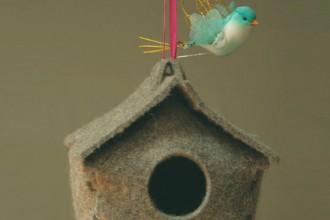 Maisonette. Casa per uccelli in feltro