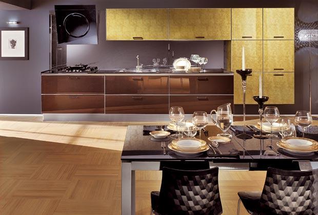 Fianchi e piano in onice per Luxo di Meson's