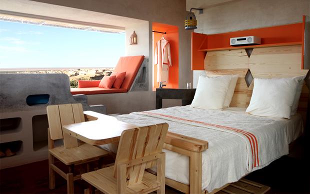 Una delle camere da letto del resort