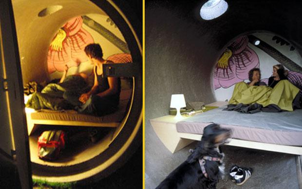 I tre tubi in cemento del Parkhotel. Piccoli rifugi per viaggiatori nomadi