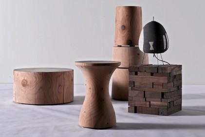 Sono In legno massello di cedro profumato e recuperato da alberi caduti per effetto di fenomeni atmosferici naturali