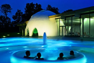 La piscina all'aperto delle Therme Bad Aibling