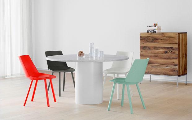Il tavolo rotondo scultoreo e versatile TA20 HIROKI