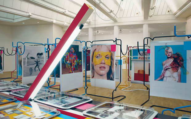 Progetto di installazione per la mostra Not in fashion: fashion and photography in the 90s