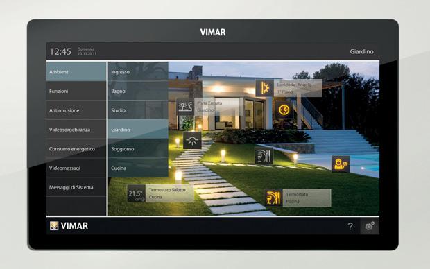 Multimedia video touch controllo carichi