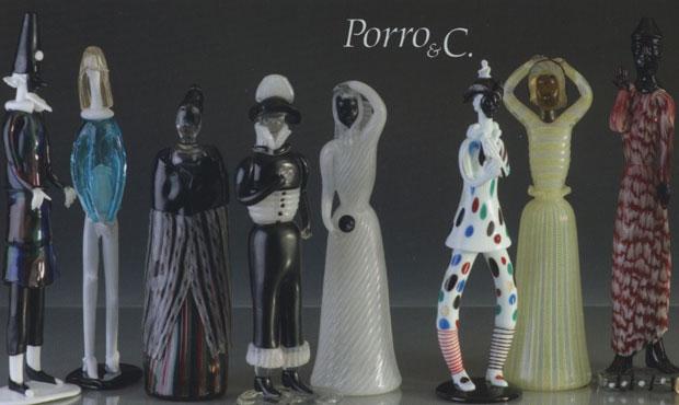 Figurine in vetro di Murano a presentare l'asta organizzata da Porro & Co