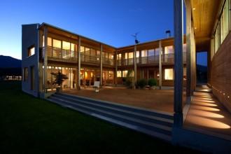 Casa in legno progettata da Rubner Haus e certificata Casaclima Nature