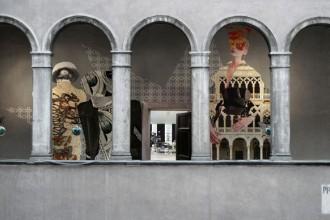 Veduta aerea del Fondaco dei Tedeschi a Venezia. Il progetto di trasformazione è dello studio OMA di Rem Koolhaas. Destinazione d'uso: La Rinascente. Copyright OMA