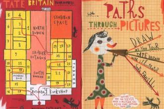 """Il Gatto e la Volpe secondo Sara Fanelli. Una pagina tratta dal classico libro """"Pinocchio"""" nelle edizioni Walker Books"""