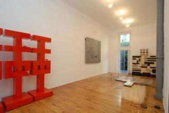 Spazio espositivo in via Corridoni dove è allestita la mostra di Mimmo Paladini e Doriana e Massimiliano Fuksas