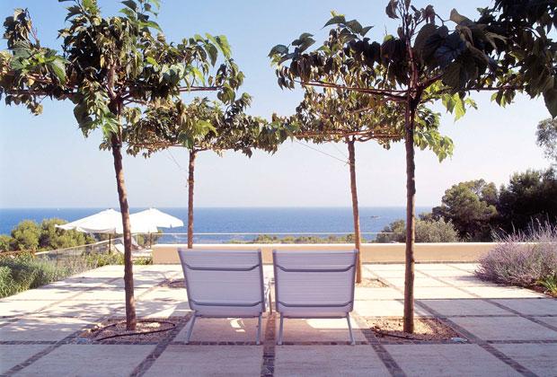 La planimetria del progetto di giardino per privati realizzato da Marco Bay tra il 2002 e il 2003 nella località di Roca Llisa