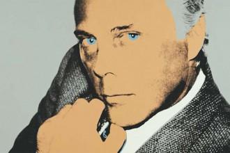 Un'opera di Andy Warhol ritrae lo stilista Giorgio Armani