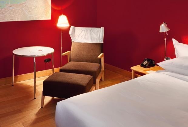 Una delle camere dell'Hotel Camper a Berlino