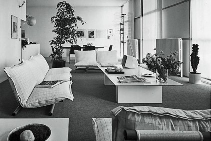 L'interno di una delle quattro abitazioni progettate a Cusago (Milano) da Renzo Piano. Foto di Richard Einzig